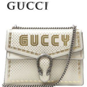 GUCCI RARE White Dionysus MEDIUM Shoulder Bag NWT